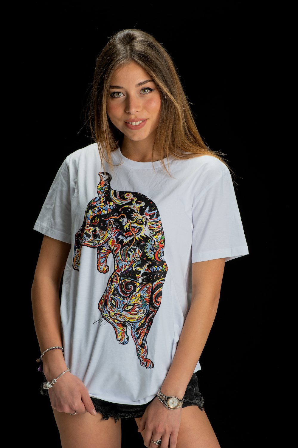 Gemello Store Official TSHIRT CAT WHITE